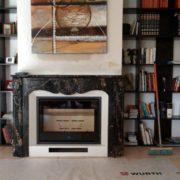Insertion dans cheminée en marbre foyer SCAN 1002